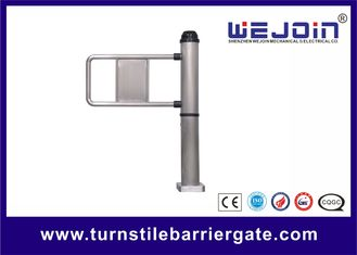 Pole Type Single Pedestrian Swing Barrier Gate With Emergency Interface