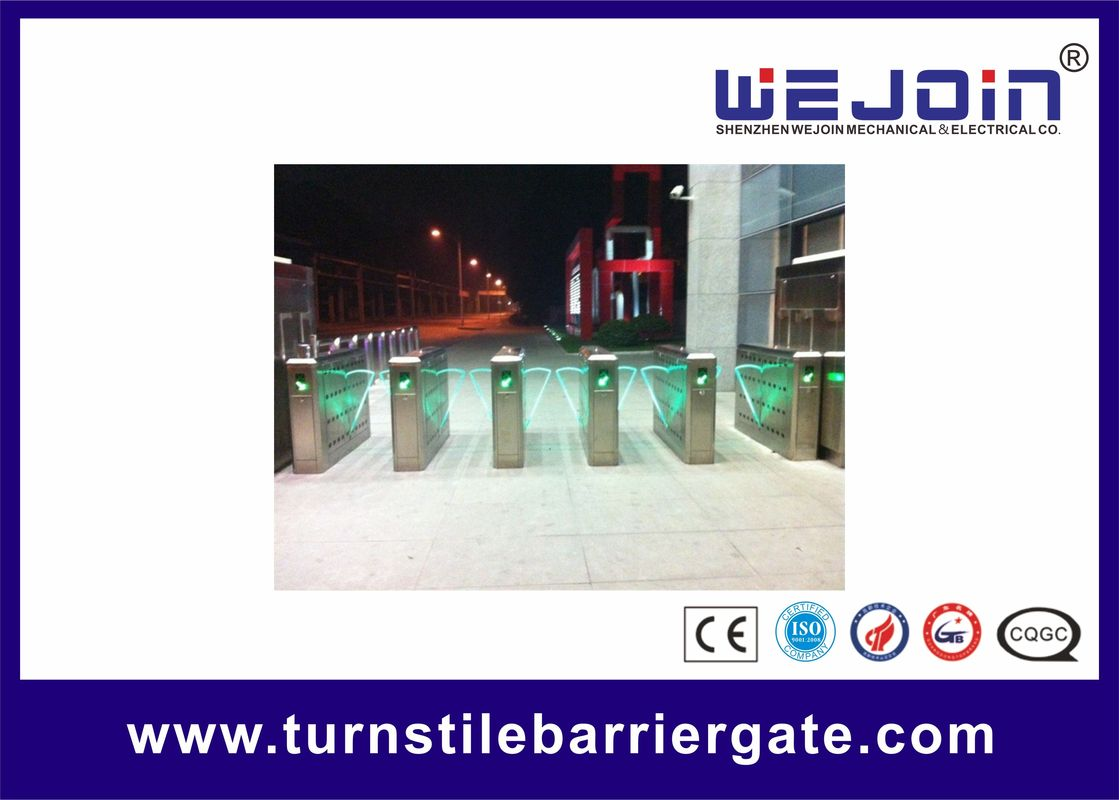 Security High Speed Flap Barrier Gate Entrance Turnstiles Stainless Steel সরবরাহকারী