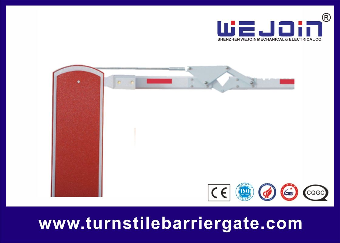 Parking Lot Arm Gate Automatic Traffic Arm Barriers With Galvanized Steel Housing সরবরাহকারী