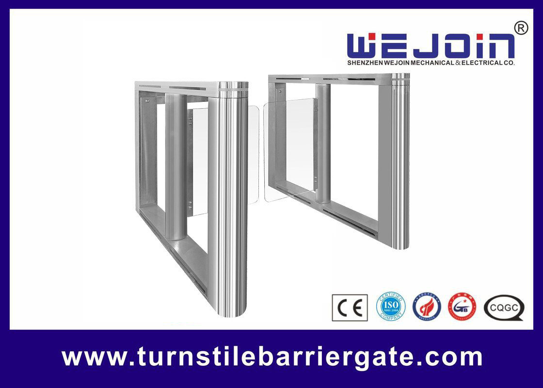 Bi - Direction Entrance Swing Barrier Gate Full Automatic Glass Door For Office